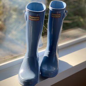Original Hunter Boots Kids Glitter Blue - Size US 3 for Sale in Redmond, WA