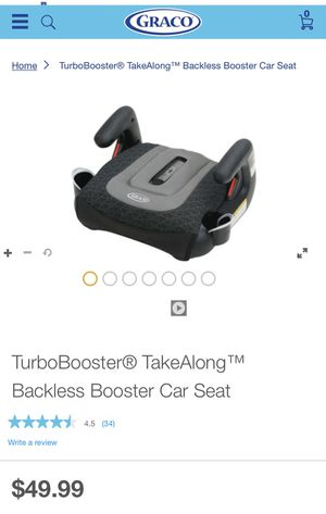 TurboBooster® TakeAlong™ Backless Booster Car Seat for Sale in Concord, NC