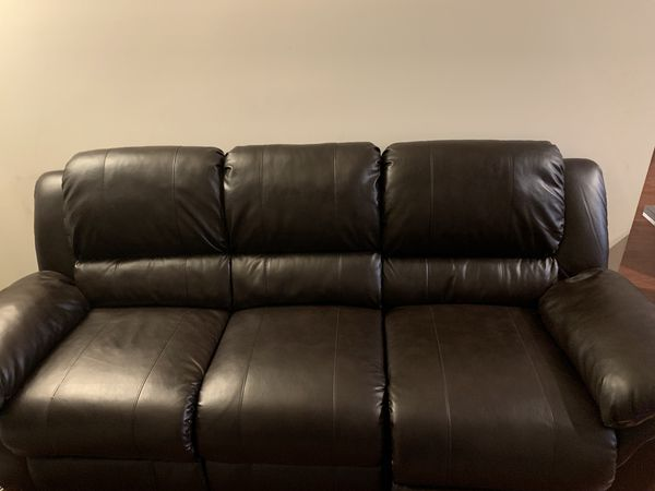 Brown Leather Electric Reclining Couch