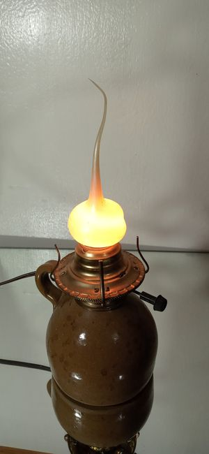 """Vintage Sunset Hilo Handmade Stoneware Jug Lamp/Light by Vickie Jean's Creations 10"""" for Sale in Chicago, IL"""