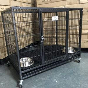 New HD Kennel w/ washable RUBBER MAT🙀 🐶 Plastic tray 🐶 castors 🐶 dimensions In second picture🇺🇸 Portable👌 Safe👌sturdy💪easy to clean👌FRENCHIE for Sale in Tolleson, AZ