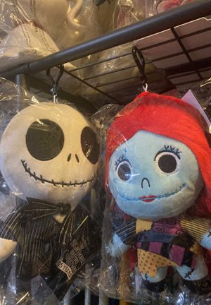 """Nightmare before Christmas 8"""" tall plush coin holder key chains for Sale in Los Angeles, CA"""