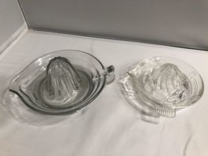 2 antique/vintage glass juicer, reamer corona pick up, $8 each for Sale in Corona, CA