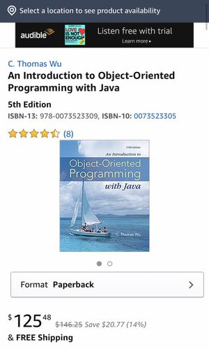 object oriented programming with Java for Sale in Chino Hills, CA
