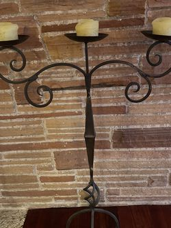 Triple Wrought Iron Candle Holder for Sale in Portland,  OR