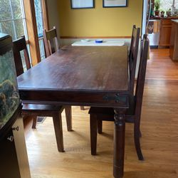 Seattle's Far Fetched Imports Wood Dining Table And Chairs for Sale in Auburn,  WA