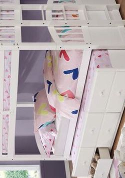 Happy White Twin Over Twin Bunk Bed with Storage Drawers and Twin Trundle for Sale in Pearland,  TX