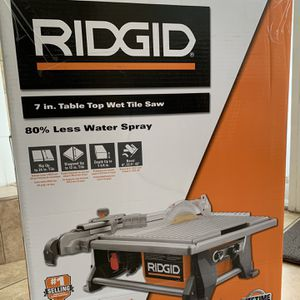 New - RIDGID Table Top Wet Tile Saw for Sale in Miami, FL