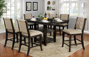 7PC DARK WALNUT COUNTER HEIGHT DINING SET😍 ON SALE😱 for Sale in Bakersfield, CA