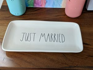 "Rae Dunn ""JUST MARRIED"" Platter for Sale in Auburn, WA"