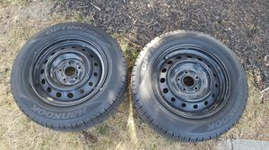 2 x 16 inch steel rims and tires for Sale in Dublin, OH