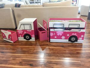 5 piece pink fire truck kids storage and desk for Sale in Pflugerville, TX