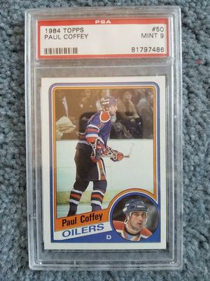 PAUL COFFEY 1984 Topps #50 PSA Graded Card MINT 9 NHL Oilers for Sale in Chula Vista, CA