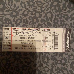 signed dierks bentley concert ticket for Sale in Edgewood, WA