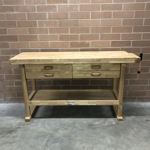 Nearly New 5 Foot Workbench Plus Vise 4 Drawers for Sale in Chicago, IL
