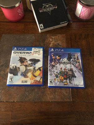 Ps4 games overwatch, kingdom hearts 2.8 for Sale in Azalea Park, FL