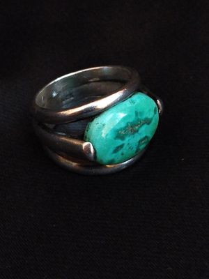 Seafoam green and blue natural turquoise sterling silver ring (size 10.25 unisex) for Sale in Altamonte Springs, FL