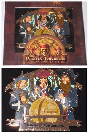 disney disneyland PIRATES of the CARIBBEAN BOXED PIN the legend lives on LE 500 for Sale in Santa Ana, CA