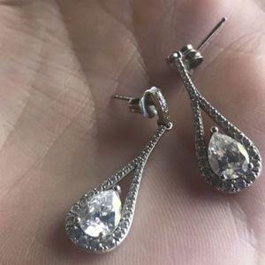 Tear drop CZ and diamond earrings for Sale in Phoenix, AZ