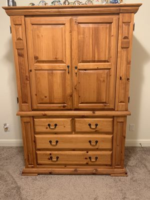 Large Curio TV stand Cabinet. Must go!! for Sale in Clovis, CA