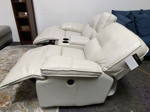 Top grain leather 3 piece sectional couch for Sale in Corona, CA