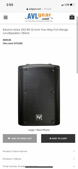 Electro Voice speakers for Sale in Chicago, IL