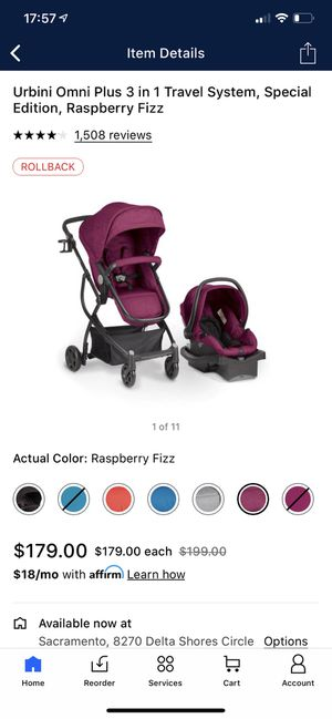 Urbini 3n1 stroller car seat set for Sale in Sacramento, CA
