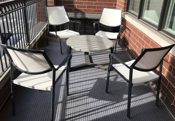Crate & Barrel/ West Elm, Modern Outdoor Furniture Set