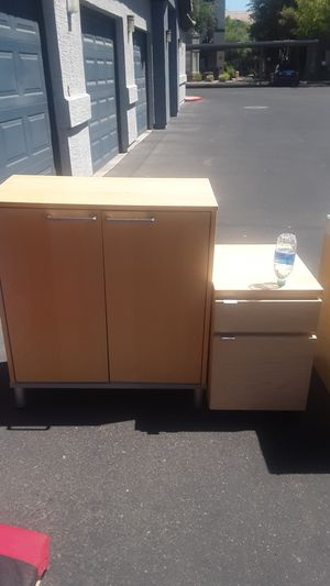 Desk, filing cabinet and cabinet for Sale in Phoenix, AZ