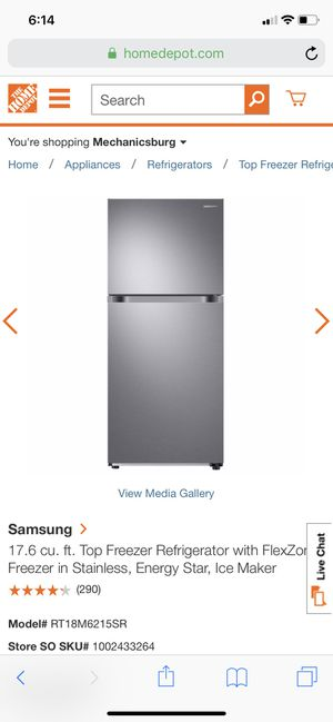 Samsung refrigerator new in box for Sale in Mechanicsburg, PA