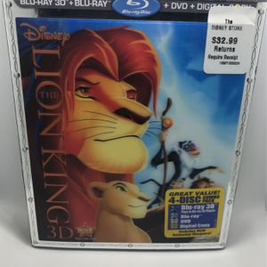 Disney's The Lion King 3D Blu-ray DVD for Sale in Corona, CA