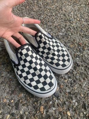 Checkered slip on vans for Sale in Portland, OR