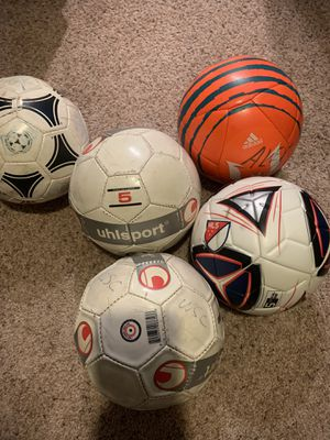 Variety of used soccer balls for Sale in Aurora, IL