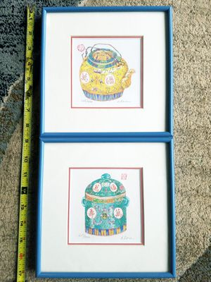 SIGNED & NUMBERED CLARA HUNG MEI YEE CHINESE FRAMED PRINT for Sale in Fairfax, VA