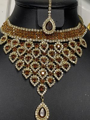 Indian latest design Necklace Set for Sale in Queens, NY