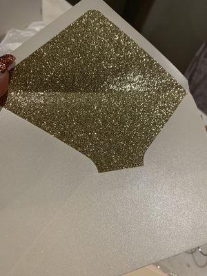 10 gold glitter envelope / pearl shimmer for Sale in Phoenix, AZ