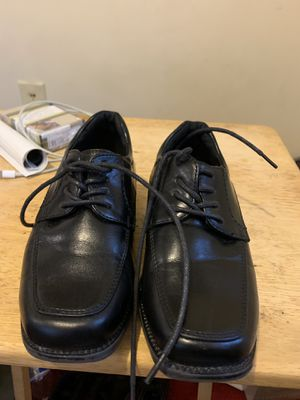 Little boys black dress shoes in size 10C for Sale in Takoma Park, MD
