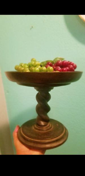 Better Home And Garden Fruit or Food And Candle Holder..Size 8 inches vfc tall..9 inches wide..Great Condition! for Sale in Modesto, CA