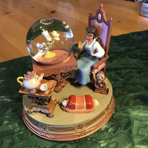 Beauty & The Beast Figurine With Small Globe for Sale in Newcastle, CA