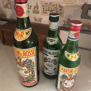 3 Vintage Martini & Rossi Bottles for Sale in Hinsdale, IL