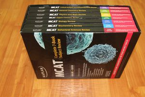 MCAT Complete 7-book Subject Review for Sale in Chicago, IL