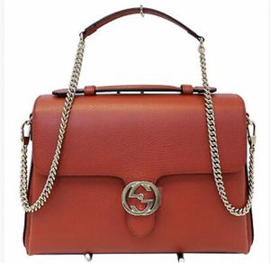 Gucci interlocking GG calfskin leather bag red for Sale in Torrance, CA