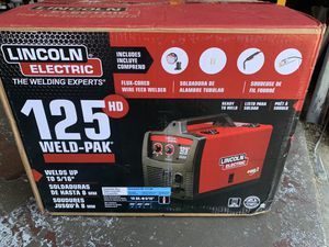 Lincoln Electric 125 Amp Weld-Pak 125 HD Flux-Cored Welder with Magnum 100L Gun, Flux-Cored Wire, 115V for Sale in Houston, TX
