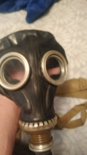 Antique gas mask w/unused canister full face for Sale in Spokane, WA