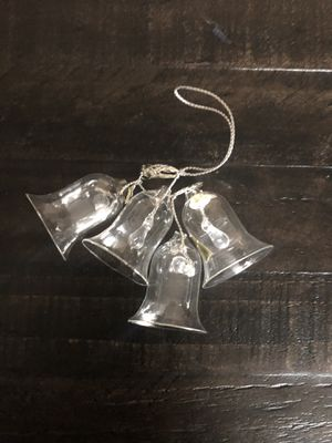 Glass bells Christmas ornament for Sale in Gold River, CA