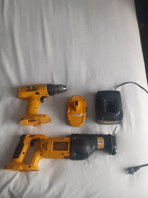Dewalt Automatic Drill And Reciprocating Saw With Battery And Charger for Sale in Bakersfield, CA