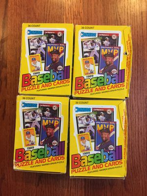 Lot of 4. 1989 Don Ross Baseball boxes. for Sale in Federal Way, WA