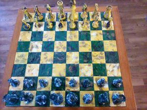 Hand made and hand painted chess board for Sale in Woodruff, WI
