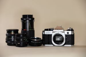 Canon AE-1 Program Film Camera 35mm with lenses for Sale in Lake Grove, OR