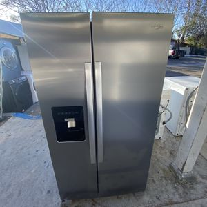 Stainless Steel Whirlpool Side By Side Fridge For Only $799 for Sale in Huntington Beach, CA